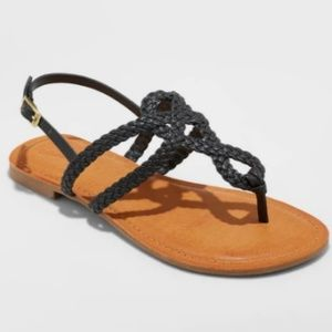 NEW Women's Jana Braided Thong Ankle Strap Sandal
